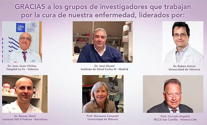 Investigadores de la enfermedad.