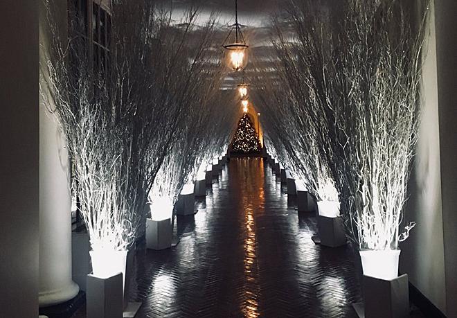 La decoraci n navide a de la casa blanca da miedo f5 for Ornamentacion para navidad