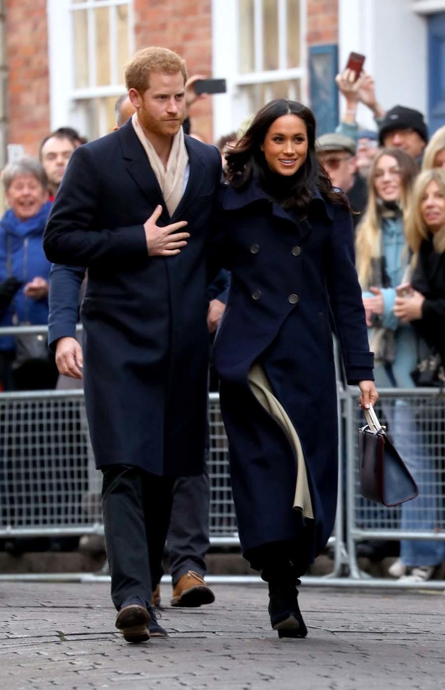 El príncipe Harry y Meghan Markle el su primer acto oficial