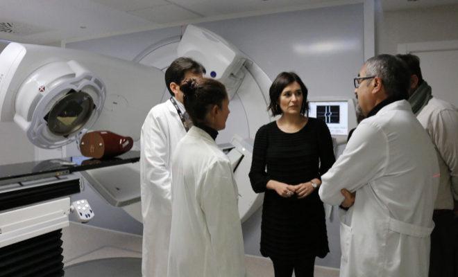 La consellera de Sanidad, este viernes, en el Hospital Provincial de Castellón.