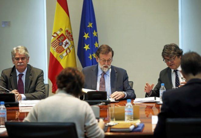 El jefe del Ejecutivo, Mariano Rajoy, presidiendo el Consejo Nacional...