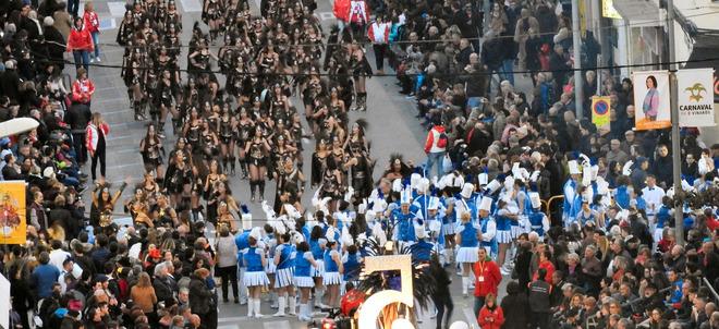 Un desfiles de Carnaval en Vinaròs.