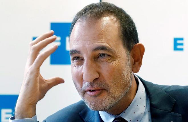El ex dirigente de Unió y 'número tres' de la candidatura de PSC, Ramón Espadaler (Units per Avançar), durante la entrevista que ha mantenido con Efe.