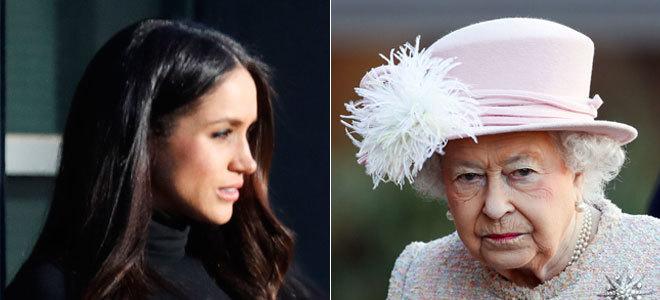 Meghan Markle y la reina Isabel, en imágenes recientes.