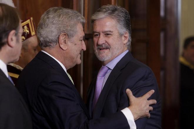 Manuel Marín, en 2014, en la celebración del Día de la...