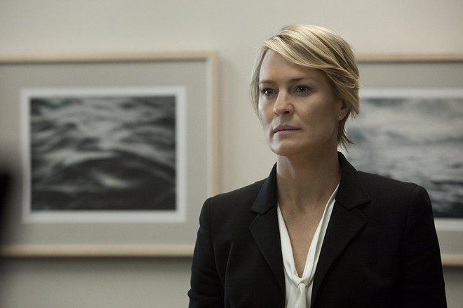 La actriz Robin Wright en una escena de 'House of Cards'.