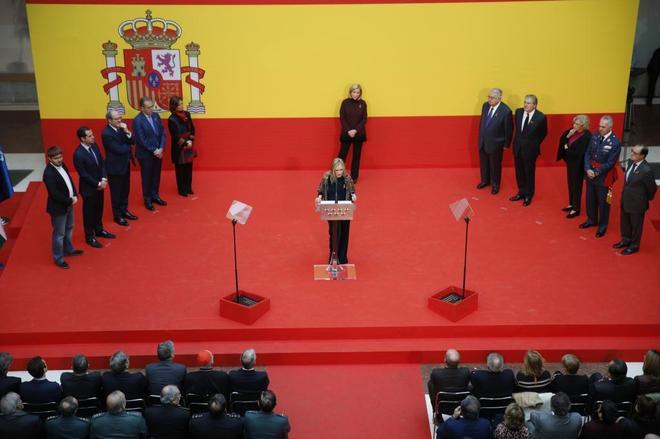 Imagen del acto por el 39 aniversario de la Constitución, ayer, en Sol.