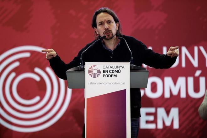 Pablo Iglesias en la presentación del programa electoral de Catalunya...