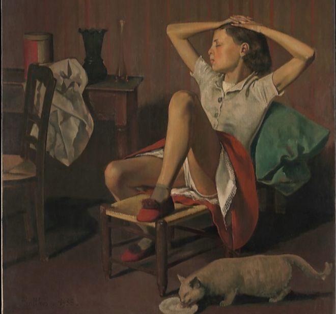 Piden censurar una obra de Balthus en el MET de Nueva York por la postura sugerente de una niña