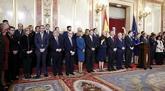 La presidenta del Congreso, Ana Pastor, durante su discurso por el...