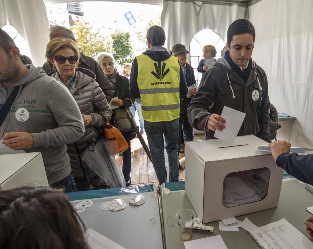 Menos vascos quieren la independencia, pero suben los que piden un referéndum