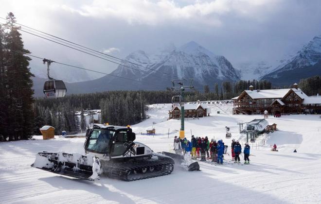 Imagen de la estación de Lake Louise, en Alberta (Canadá).