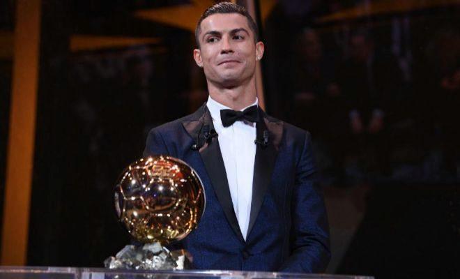Cristiano, con su quinto Balón de Oro en París.
