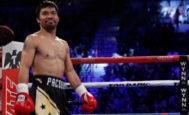 Manny Pacquiao, durante un combate en Las Vegas en 2016.