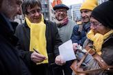 El ex presidente de la Generalitat, Carles Puigdemont, durante la...