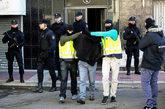 Momento de la detención del presunto yihadista de Parla