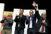 Àngel Ros, Pedro Sánchez, el candidato por Lérida Oscar Ordeig y...