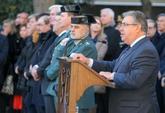 El ministro del Interior, Juan Ignacio Zoido, en el acto conmemorativo...