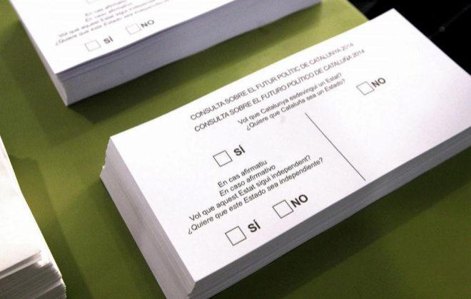 Papeletas que se usaron en la consulta del 9 de noviembre de 2014.