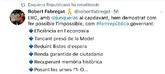 Un tuit sobre Oriol Junqueras retuiteado por ERC.