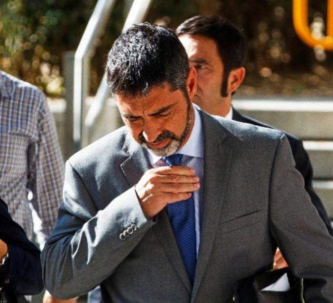 El ex mayor de los Mossos Josep Lluís Trapero, al declarar en la...