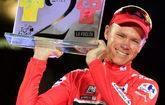 Froome celebra su victoria en la Vuelta a España 2017.