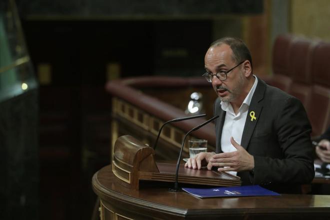 Carles Campuzano, durante su intervención en el Congreso.