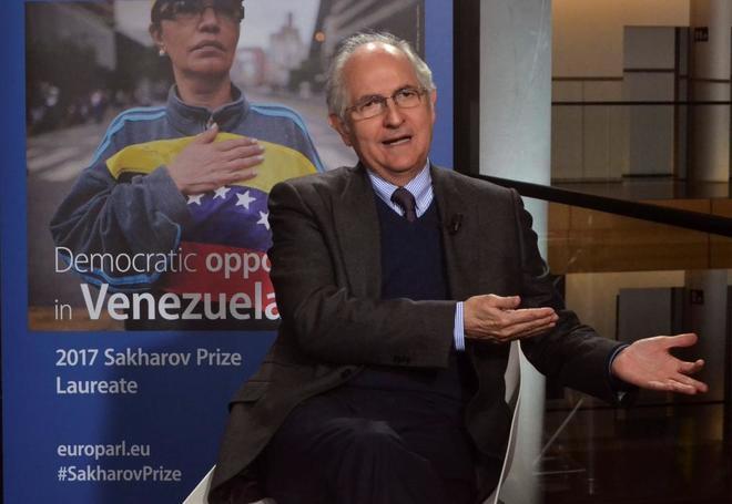 Julio Borges recoge el Premio Sajarov