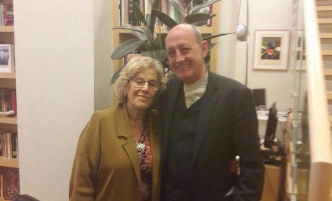 Manuela Carmena y Jesús Montero, ayer en Madrid en su encuentro de despedida.