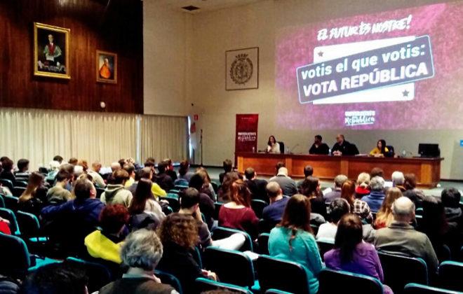 Acto de Universitats per la Republica ayer en Barcelona.