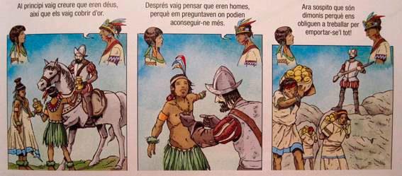 Libro de 3º de la ESO de la editorial Cruïlla en que se critica la...
