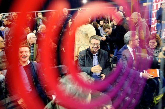 El candidato de Catalunya en Comú-Podem, Xavier Domènech, en un acto...