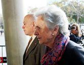 Jordi Pujol y su esposa, Marta Ferrusola, llegando a los juzgados.