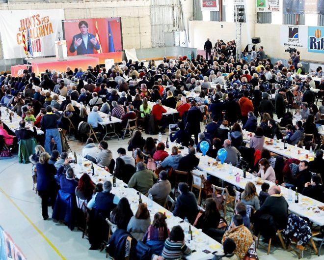 Acto de Junts per Catalunya en Sant Celoni