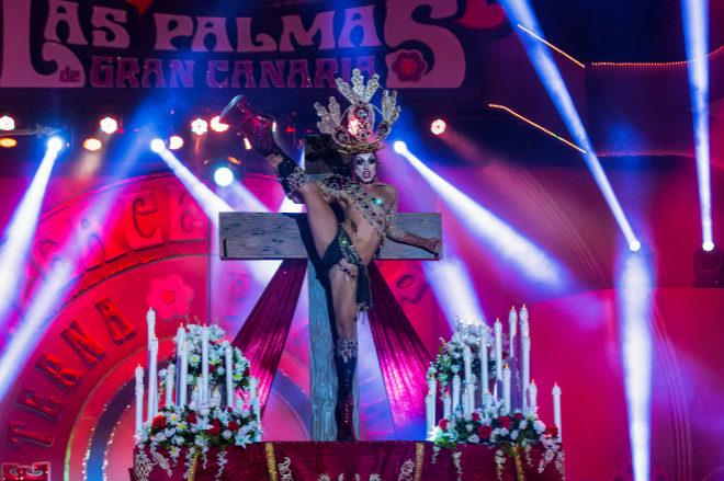 La juez archiva la causa contra el drag que se vistió de Virgen en el carnaval de Las Palmas de Gran Canaria