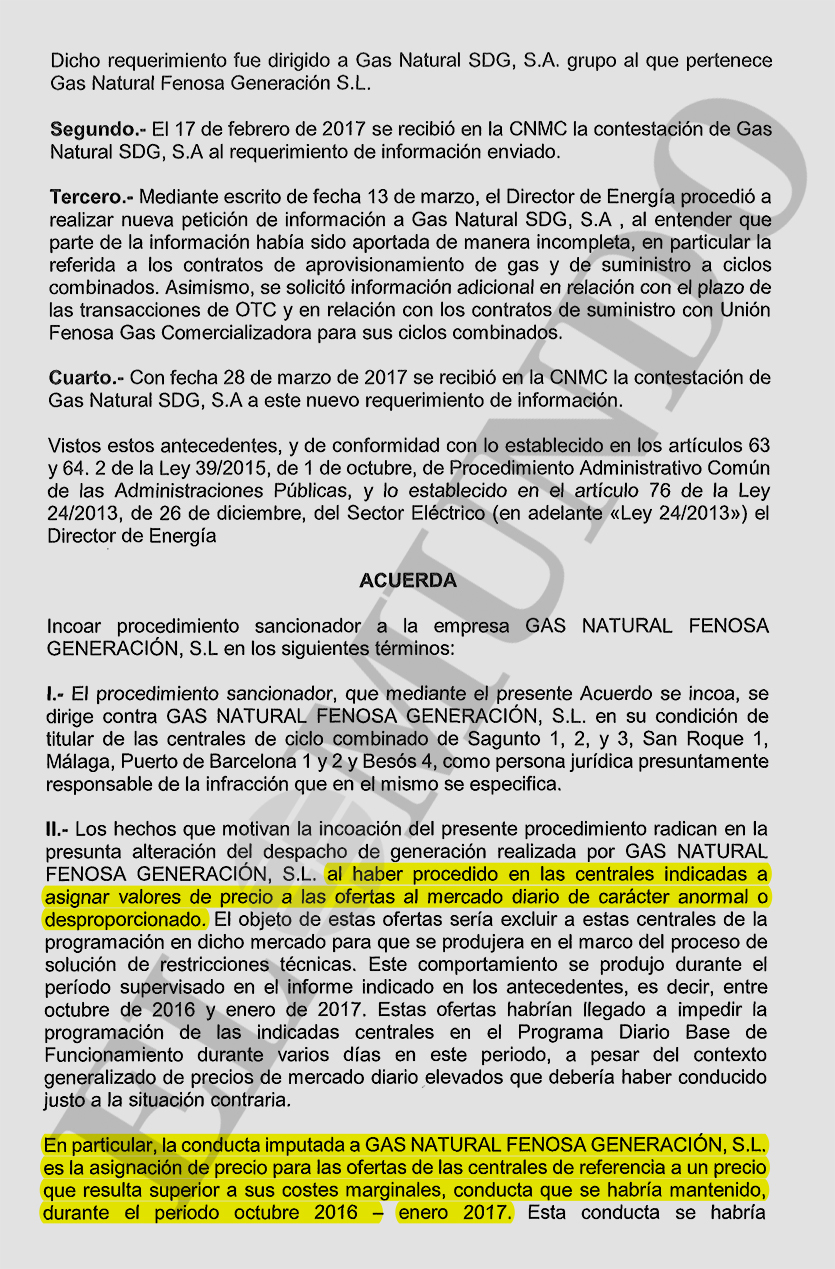 Endesa y gas natural se enfrentan a una sanci n de 6 for Gas natural malaga
