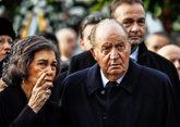 Don Juan Carlos y Doña Sofía, el pasado sábado en el funeral de...