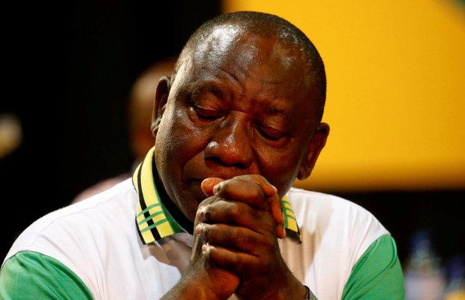 El recién elegido nuevo presidente del Congreso Nacional Africano, ayer, en Johannesburgo.