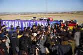 Acto de campaña de ERC en las inmediaciones de la cárcel de...