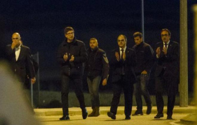 Salida de prisión de los ex consejeros de la Generalitat el pasado 4 de diciembre