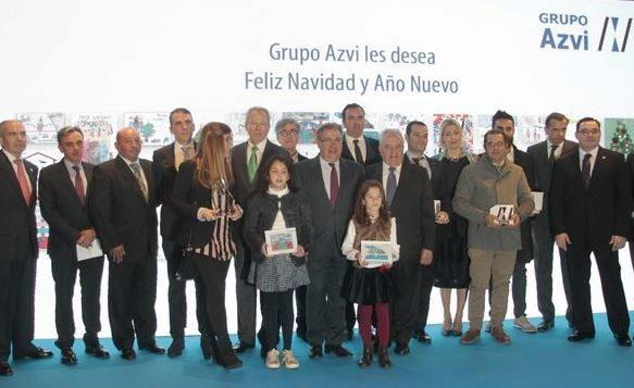 Algunos de los galardonados en el 12º Premios Azvi