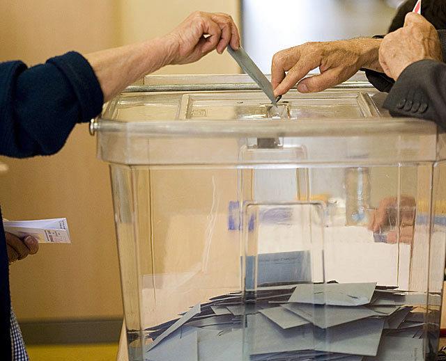 Urna de votación de las elecciones catalanas