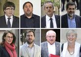 Puigdemont, Junqueras, Forn, Sànchez, Serret, Comín, Puig y Ponsatí
