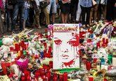 Homenaje en La Rambla, días después del ataque terrorista en...