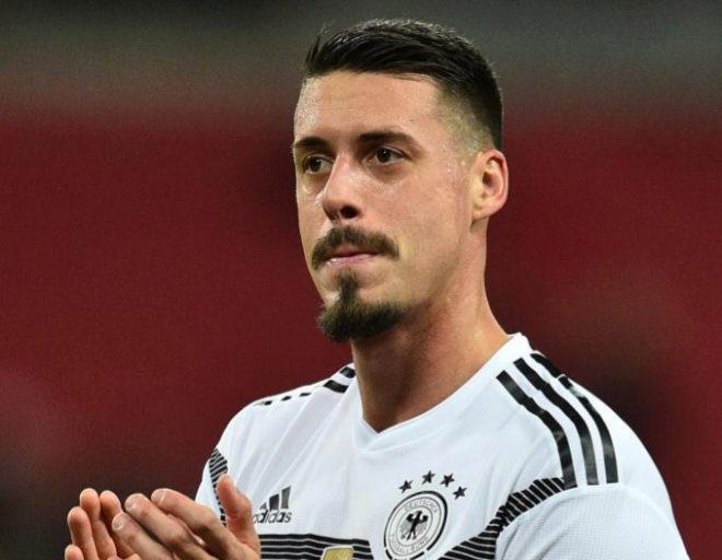 Sandro Wagner, tras el amistoso que Alemania disputó en Inglaterra, en noviembre.