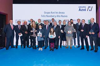Todos los premiados en la 12º Premios Azvi