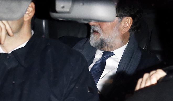 Mariano Rajoy, ayer, a su llegada a Génova.