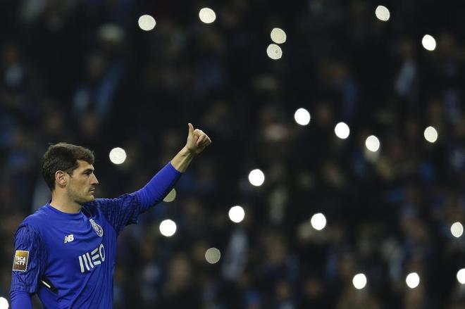 Casillas, durante el partido  de la Copa de la Liga de Portugal disputado este jueves ante el Rio Ave.
