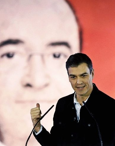 Pedro Sánchez, durante la campaña.