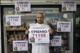 Carlos Díaz , vendedor de siete décimos del Gordo de la Lotería de...